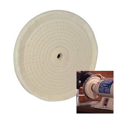 "Spiral Stitched Cotton Buffing Polishing Wheel For 150 Mm 6"" Bench Grinder Ha4"