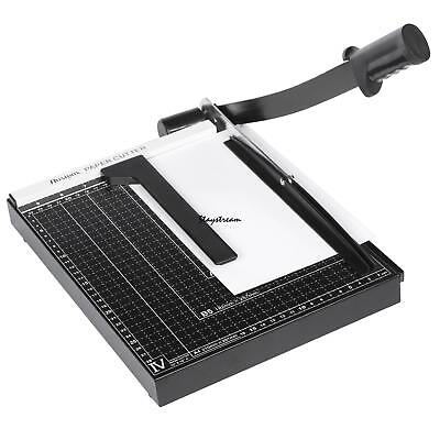 12 Sheet Professional Guillotine Paper Cutter A4 Paper Trimmer for Home Office