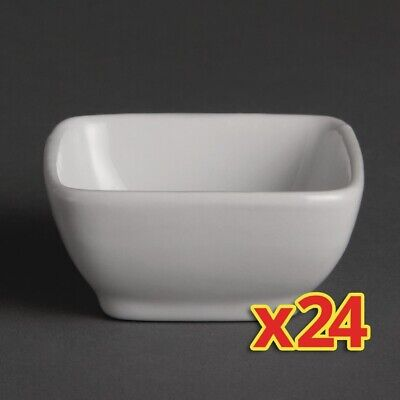 Bulk Buy Pack of 24 Olympia Miniature Rounded Square Dishes (Pack of 24)