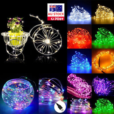 5M 10M 20M USB LED Copper Wire String Fairy Light Party Wedding Christmas Decor