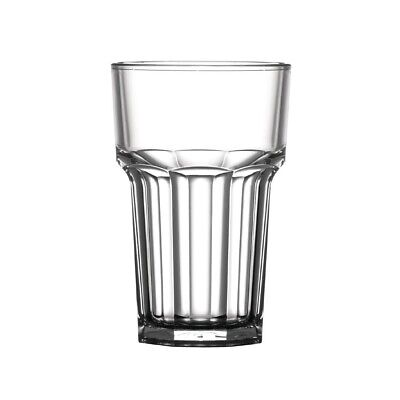BBP Polycarbonate Nucleated American Hi Ball Glasses Half Pint CE Marked (Pack o