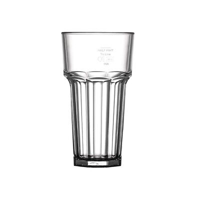 BBP Polycarbonate American Hi Ball Glasses Lined Half Pint CE Marked at 285ml (P