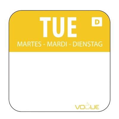 Dissolvable Food Rotation Labels Tuesday (Pack of 1000) (Next working day to UK)