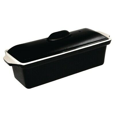 Vogue Black Cast Iron Pate Terrine Mould 1.7Ltr (Next working day UK Delivery)