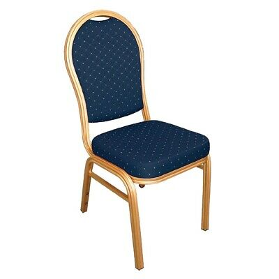 Bolero Aluminium Arched Back Banquet Chairs Blue (pack of 4)