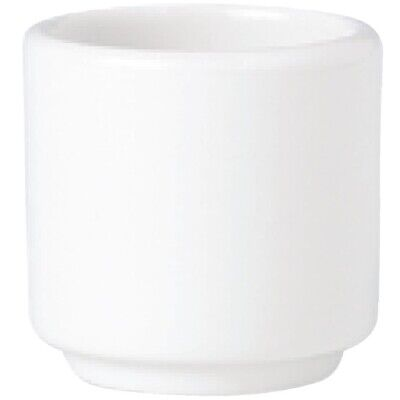 Steelite Simplicity White Footless Egg Cups 47mm (Pack of 12)