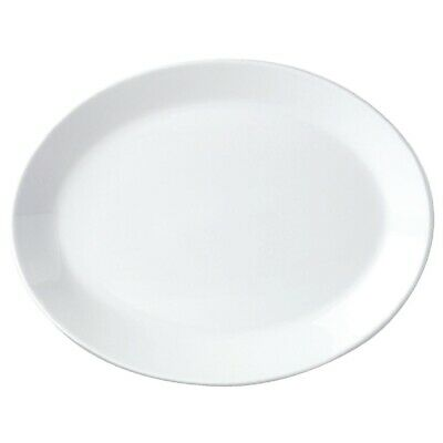 Steelite Simplicity White Oval Coupe Dishes 342mm (Pack of 12)