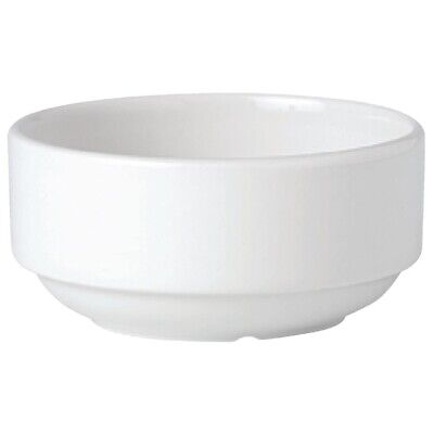 Steelite Simplicity White Stacking Soup Cups 285ml (Pack of 36)
