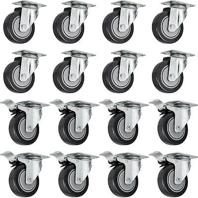 16 PCS 5 Inch Swivel Caster Wheels Heavy Duty Double Ball Bearing Plate