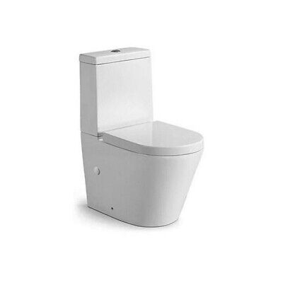 Flush To Wall Toilet with Modern Soft Close Seat Fully Close Coupled