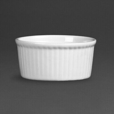 Olympia Whiteware Ramekins 80mm (Pack of 12) (Next working day UK Delivery)
