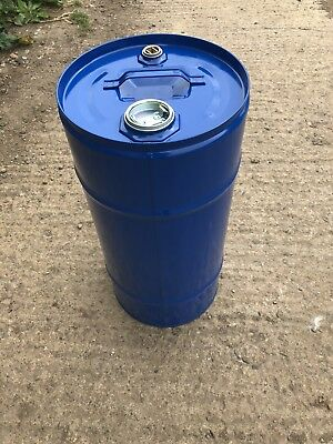 30 litre steel drum/barrel. Perfect for BBQs, storage, metal bins...