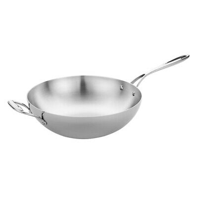 Vogue Tri Wall Wok Flat Base 305mm (Next working day UK Delivery)