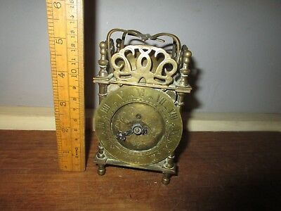 Vintage Brass Smiths Lantern Clock .For Parts / Repair .6 in.tall