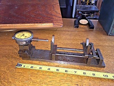 "Bench Micrometer  Precision Gage Fixture 10.5"" X 2"" Federal Indicators V Blocks"