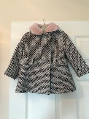 NEXT girls coat, grey/pink 1.5-2 years 18-24 months, great condition