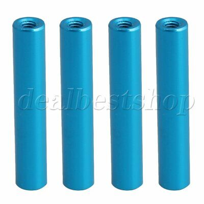4x RC1:10 Blue Aluminum Alloy Column Standoff Spacer for Model Cars