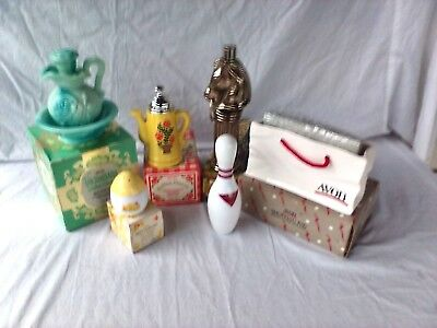 Avon Decanter Koffee Klatch Pony Post Buttercup Shopping Bag Victoriana Bowling