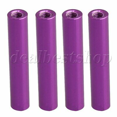 4PCS Purple 6x32.3mm Alminum Alloy RC 1/10 Model Cars Aluminum Column