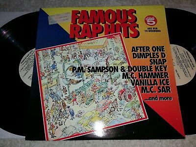 Famous Rap Hits   Vinyl 2 LP Sampler ZYX