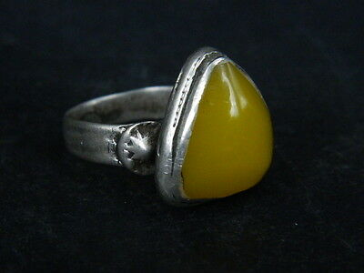Antique Silver Ring With Stone Post Medieval 1800 AD  #STC203