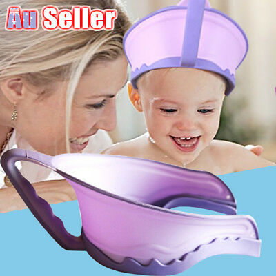Baby Kids Children Waterproof Shield Shampoo Bath Shower Wash Hair Hat Cap