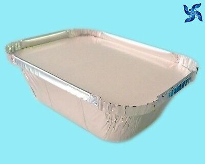 No1 ALUMINIUM FOIL FOOD CONTAINERS + LIDS PERFECT FOR HOME & TAKEAWAY USE