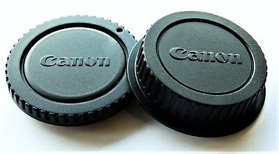"Canon Camera Body/rear Lens Cap Set*new* "" Fast Free Shipping."" U.s.a. Seller""!"