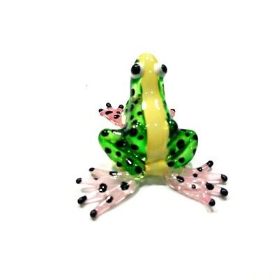 Glass Hand Animals Frog Miniature Blow Glass Collectible Figurines Reptiles Deco