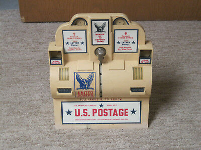 American Adjustomatic Corp.  Postage Stamp Vending Machine - Vintage antique