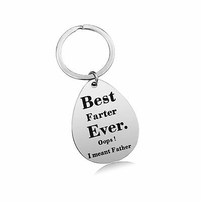 Keychain Gifts for Dad Father - Dad Gift Idea from Wife Daughter Son Kids, St...