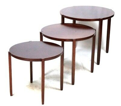 Vintage BRICKEL Rosewood Nesting Tables by Designer Timothy Defiebre [PL4505]