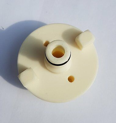 Motorhome Water Filler cap With Hose Connector Fits Continental Screw Type White