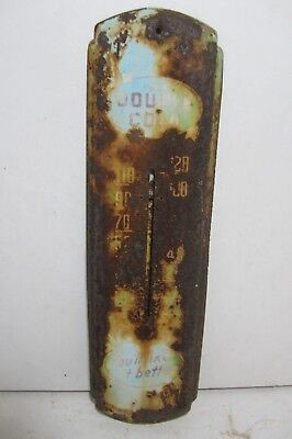 Double Cola Thermometer Metal Sign Tin Soda Pop Antique Beverage Drinks Home USA