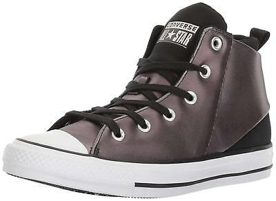 5067accd04f2 CONVERSE ALL STAR Sloane Silver Leather Mid Sneakers Trainers Women ...