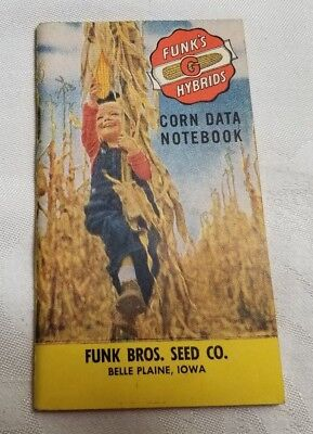 Vintage FUNK'S G HYBRIDS Corn Data Notebook Pocketbook by Funk Bros. Seed Co.
