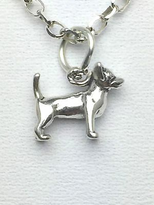 Sterling Silver .925 - Chihuahua Dog Breed -3D Charm - Free Shipping