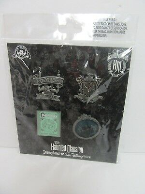 Disney Park Haunted Mansion Attraction 4-Pin Booster Pack Trading Set NEW/SEALED