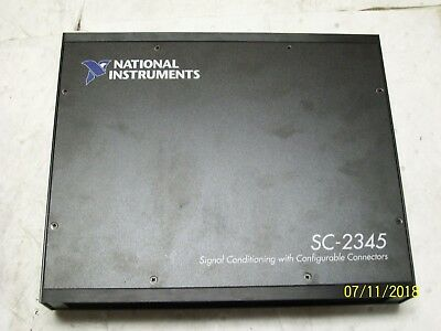 NATIONAL INSTRUMENTS SIGNAL CONDITIONING with CONNECTORS SC-2345 W/ SCC-PWR02