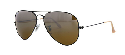 New Ray Ban Aviator RB 3025 006/3K Black Metal w/Brown Gradient size 58mm