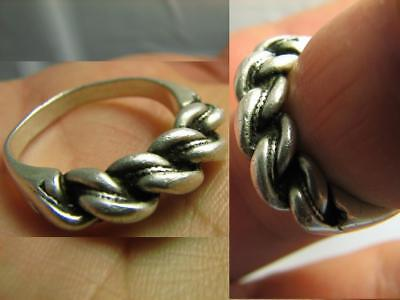 Massive!old Vintage Twisted Sterling Silver Ring #522