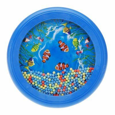 Ocean Wave Bead Drum Gentle Sea Sound Toy Tool for Baby Kid Child U9W6