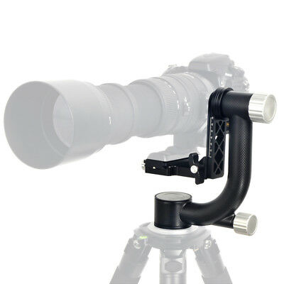 360 Degree Heavy Duty Gimbal Tripod Head with Quick Release Plate for Camera