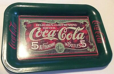 Coke Brand Tip Tray Delicious and Refreshing Drink Coca-Cola 5 Cents 1989