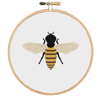Bee Cross Stitch Pattern Animal Cross Stitch Pattern Beginners