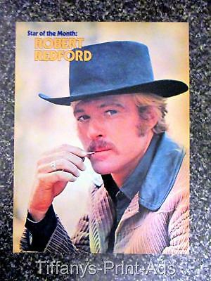ROBERT REDFORD  * Full Page  Magazine CLIPPINGS Photo * 80-90s