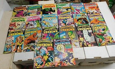 DC Silver Age Comic Lot 20 diff Challengers Unknown #36-58 1964-67