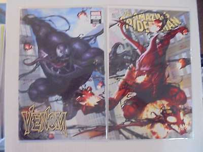Amazing Spider Man #801 / Venom #1 InHyuk Connecting Variant Set Marvel VF/NM...