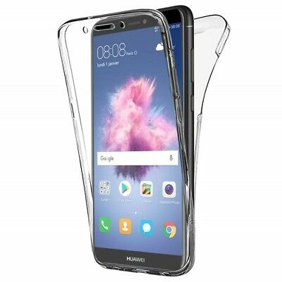 360° Silicone Protective Front & Back Clear Gel Case Cover For Huawei P Smart