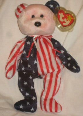 Ty Beanie Baby Spangle Bear Pink Face 1999 Free Shipping